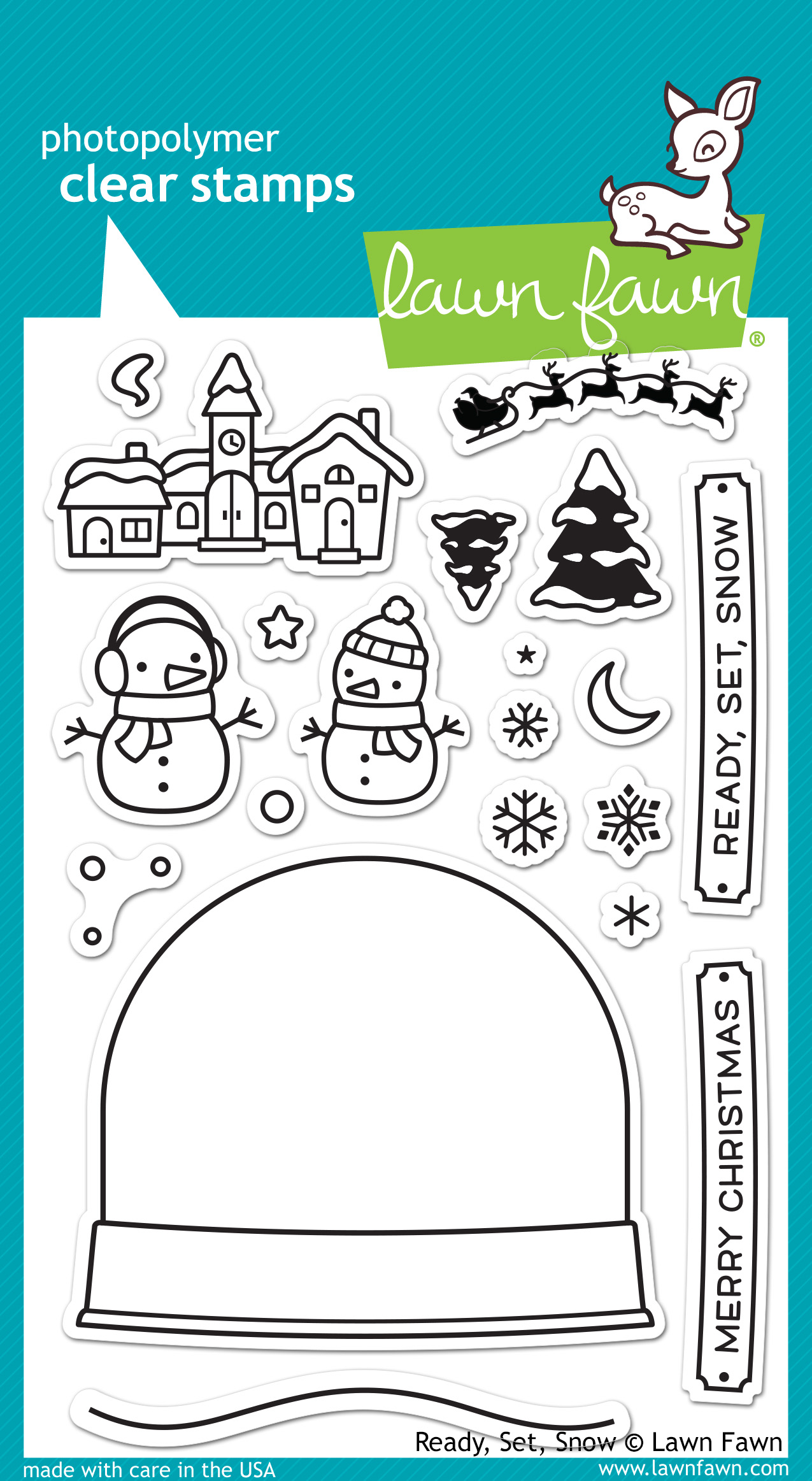 christmas lawn fawn clear stamps ready set snow lawn fawn clear stamps