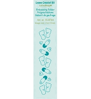 Leane Creatif - LeaCrea Design Embossing Folder - Border Baby Feet