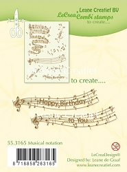 Leane Creatif - Lea'bilities Clear Stamp - Musical Notation