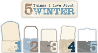 Little Yellow Bicycle - Winterings Collection - 5 Things Envelopes with Glitter
