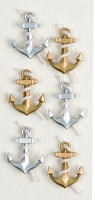 Little B - 3D Mini Stickers - Anchors