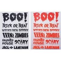 Little B - Rub On - Boo Halloween Phrases (1 orange + 1 black)