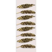 Little B - 3D Mini Stickers - Gold Feathers
