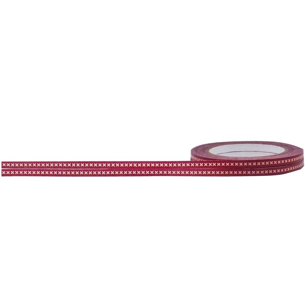 Little b decorative paper tape red cross stitch 3mm x for Decorative paper rolls