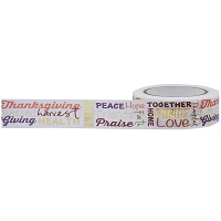 Little B - Decorative Paper Tape - Gold Foiled Autumn Word Play (15mm x 10m)