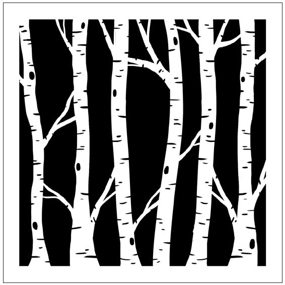 Magenta 12 Quot X12 Quot Stencil Large Birch Forest