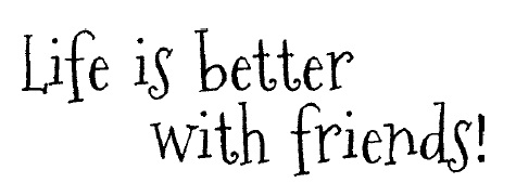 Magenta Cling Rubber Stamp Life Is Better With Friends