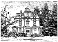 Magenta - Cling Rubber Stamp - Mansion