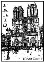 Magenta - Cling Rubber Stamp - Notre-Dame of Paris