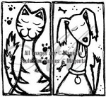Magenta Cling Stamp - Dog & Cat Friends
