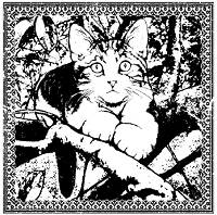 Magenta - Cling Rubber Stamp - Cat of the Season - Spring 2012 Gustave Large