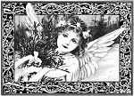 Magenta-Cling Stamp-Winter Angel