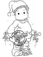 Magnolia - Cling Mounted Rubber Stamp - Edwin with Windling Fern