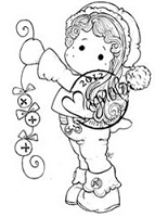 Magnolia - Cling Mounted Rubber Stamp - Jingle Jangle Tilda