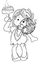 Magnolia - Cling Mounted Rubber Stamp - Happy New Year Tilda