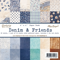 Maja Design - Denim & Friends Collection - 6x6 Paper Pad