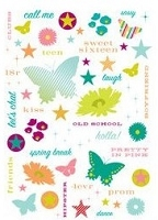 Making Memories - Just Chillin' Collection - Glitter Rub Ons