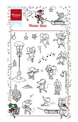 Marianne Design - Clear Stamp - Winter mice