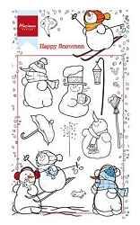 Marianne Design - Clear Stamp - Happy Snowmen