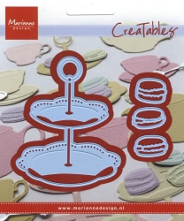 Marianne Design - Creatables Die - Tiered Tray and Macaroons