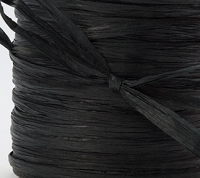 May Arts Ribbon - Paper Raffia - Black (Price per yard)