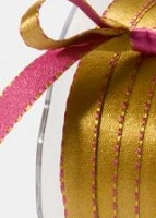 May Arts - 3/8 inch Reversible Satin - Fuschia/Antique (1 yard)