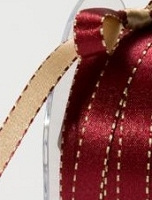 May Arts - 3/8 inch Reversible Satin - Burgundy/Gold (1 yard)