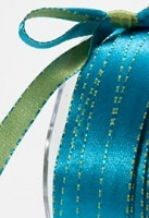 May Arts - 3/8 inch Reversible Satin - Blue/Green (1 yard)