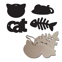 Maya Road - Keychain Chipboard - Cat