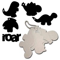 Maya Road - Keychain Chipboard - Dinos