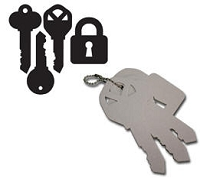 Maya Road - Keychain Chipboard - Keys