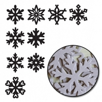Maya Road - Chipboard - Large Snowflakes