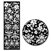 Maya Road Rub On - Damask White