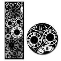 Maya Road Rub On - Clocks White
