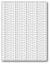 Poppy Stamps - Die - Heart Pattern Plate