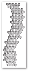 Poppy Stamps - Die - Honeycomb Curve