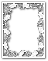 Poppy Stamps - Die - Delicate Holly Frame