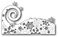 Poppy Stamps - Die - Snowflake Wave