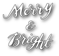 Poppy Stamps - Die - Merry and Bright Brushed