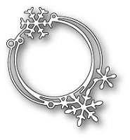Poppy Stamps - Die - Scribble Snowflake Circle