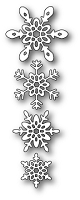 Poppy Stamps - Die - Ava Snowflakes
