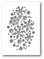 Poppy Stamps - Die - Snowflake Oval Collage