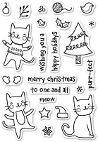 Poppy Stamps - Clear Stamp - Purrfect Holidays Clear Stamp Set