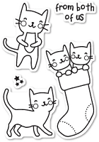 Poppy Stamps - Clear Stamp - Cat Friends Clear Stamp Set