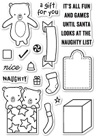 Poppy Stamps - Clear Stamp - Naughty or Nice Clear Stamp Set