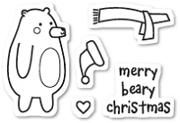 Poppy Stamps - Clear Stamp - Beary Christmas Clear Stamp Set