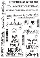 Poppy Stamps - Clear Stamp - Christmas Greetings Clear Stamp Set