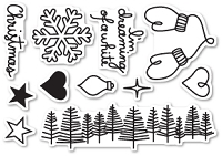 Poppy Stamps - Clear Stamp - Dreaming of a White Christmas Clear Stamp Set