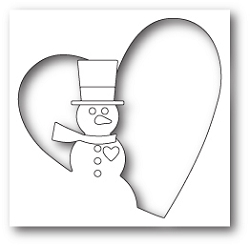 Memory Box - Die - Snowman Heart Collage