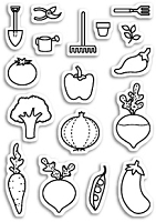 Memory Box - Open Studio Clear Stamp Sets - Baby Veggies